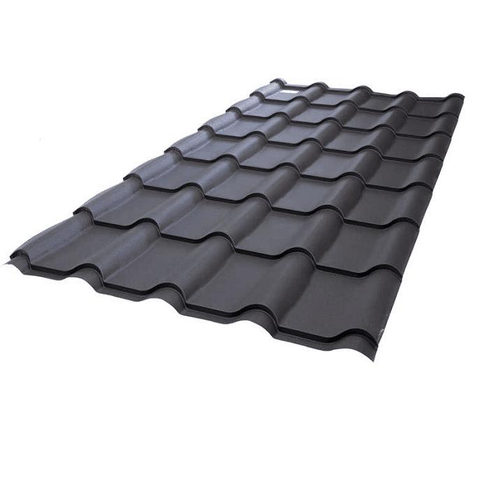 Tigla metalica mat stucturat grosime 0,48-0,5mm